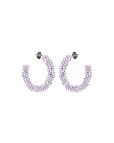 Taylor Hoop Earrings, White