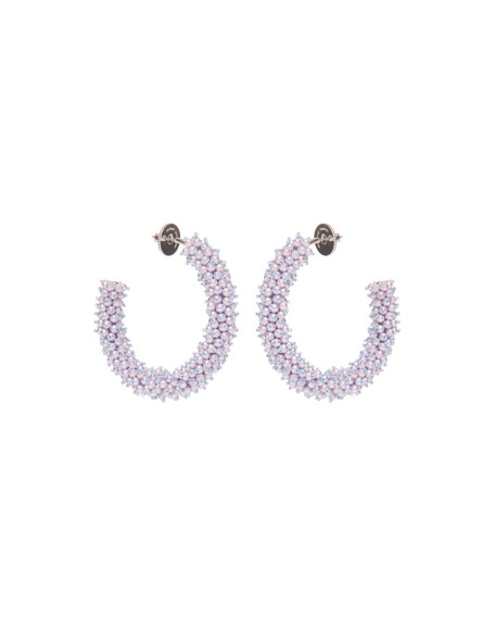 Mignonne Gavigan Taylor Hoop Earrings, White