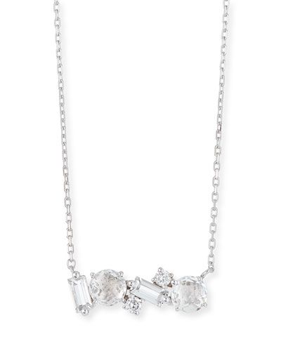 14k White Gold Amalfi Mix Necklace, White