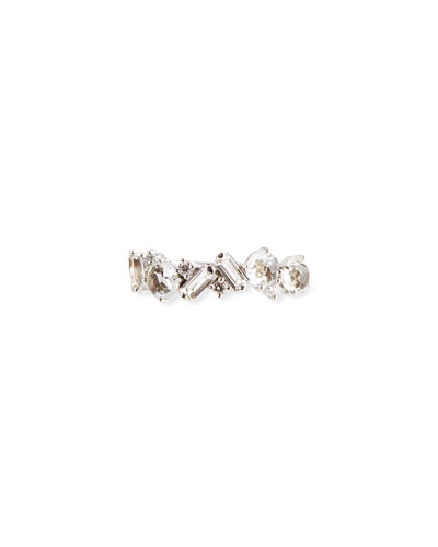 Bloom 14k White Gold Amalfi Mix Ring, White, Size 4-8.5