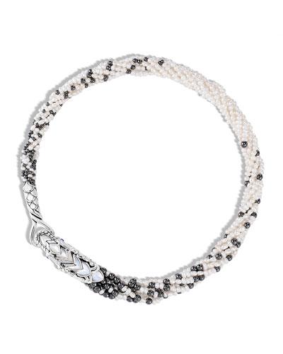Legends Naga Multi-Row Pearl Necklace