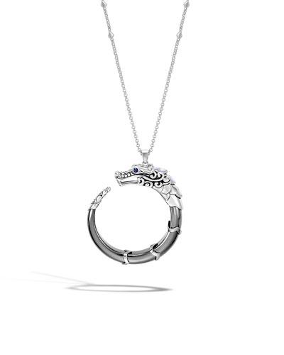 Legends Naga Hematite Pendant Necklace