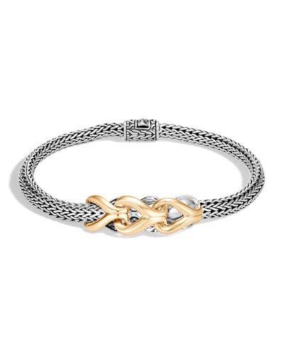 Classic Chain Asli Link-Station Bracelet w/ 18k Gold