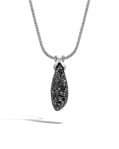 Classic Chain Black Spinel & Sapphire Necklace