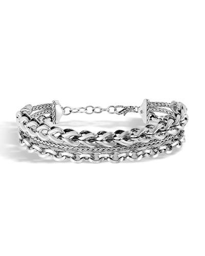 Classic Chain Asli 3-Row Bracelet
