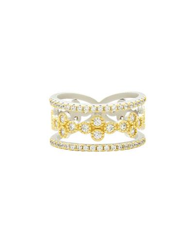 Fleur Bloom 3-Layer Clover Ring