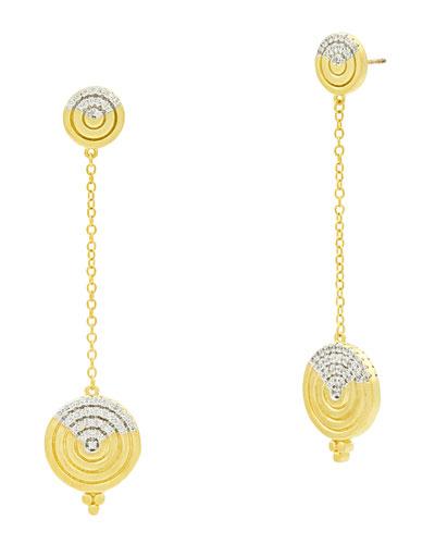 Fleur Bloom Empire Circular Dangle Earrings