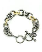 Freida Rothman Signature Two-Tone Heavy Link Bracelet
