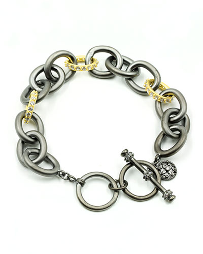 Signature Two-Tone Heavy Link Bracelet