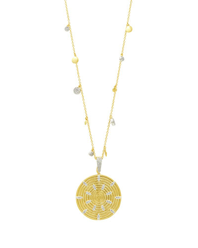 Fleur Bloom Empire Circular Pendant Necklace