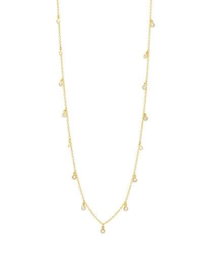 Signature Bezel Droplet Necklace, 40