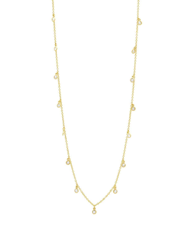 Signature Bezel Droplet Necklace