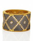 Freida Rothman Signature Geo Stripe Cigar Band Ring