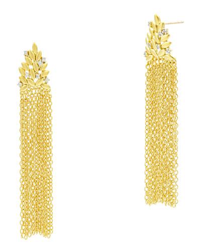 Fleur Bloom Cascading Fringe Earrings