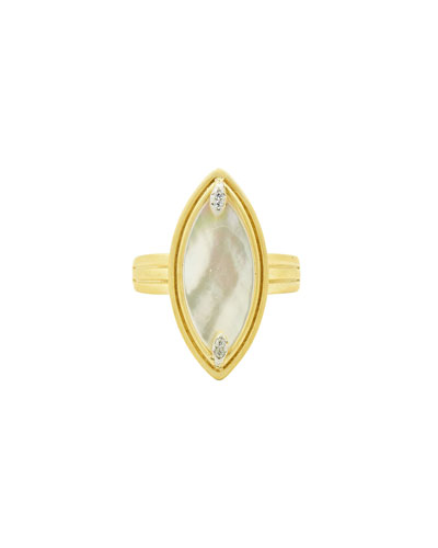 Fleur Bloom Mother-of-Pearl Cocktail Ring