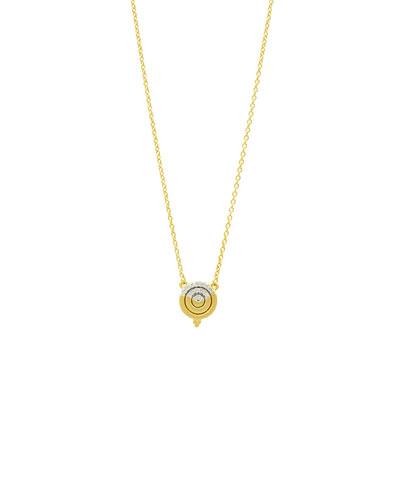 Fleur Bloom Empire Small Circular Pendant Necklace