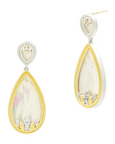 Fleur Bloom Mother-of-Pearl Teardrop Earrings
