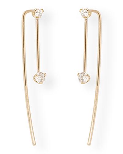 14k Diamond Wire Earrings