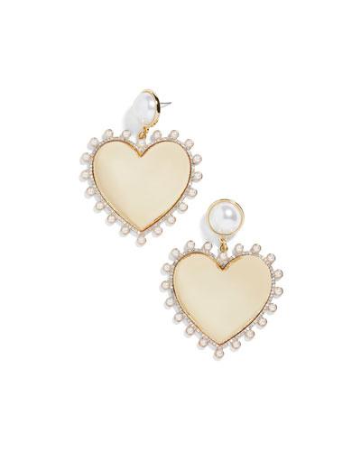 Amalia Pearly Heart Drop Earrings