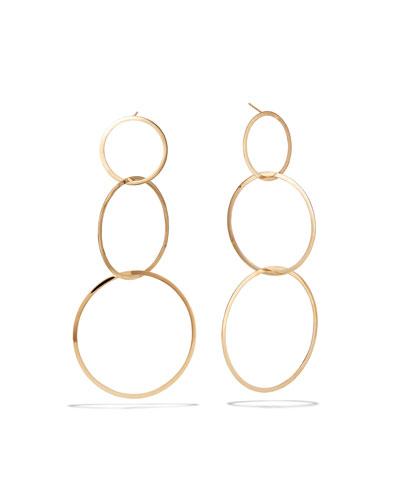 14k Large 3 Flat-Link Hoop Earrings