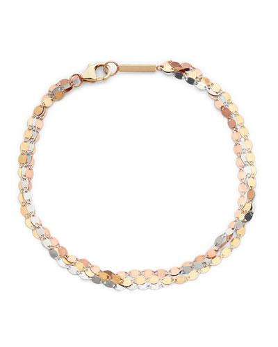 Nude Tricolor 14k Gold 3-Strand Bracelet