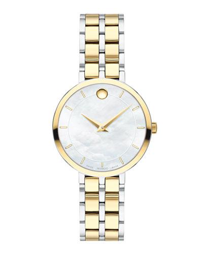 Kora Mother-of-Pearl Bracelet Watch, Two-Tone