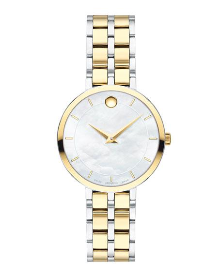 Movado Kora Mother-of-Pearl Bracelet Watch, Two-Tone