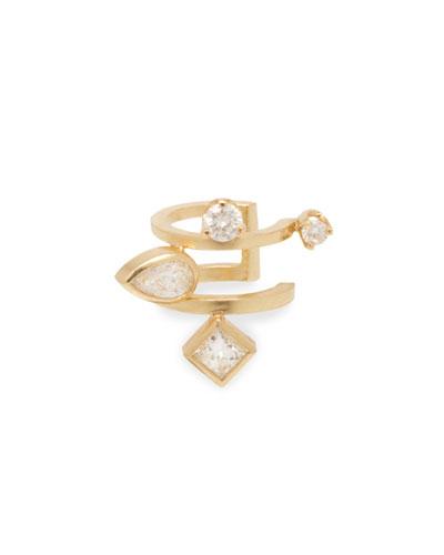 14k Diamond 2-Row Ear Cuff