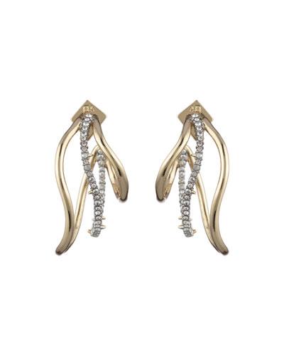 Orbit Wavy Hoop Earrings