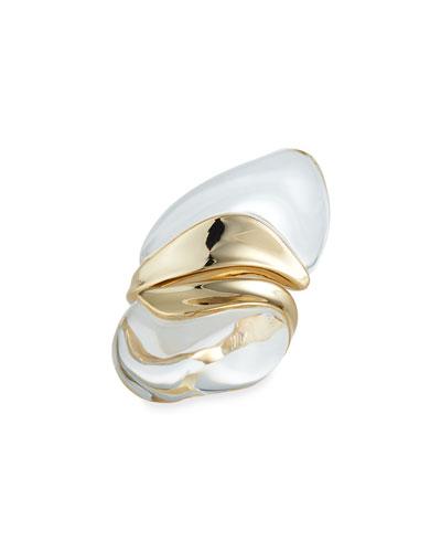 Liquid Lucite Sculptural Ring, Size 6-8
