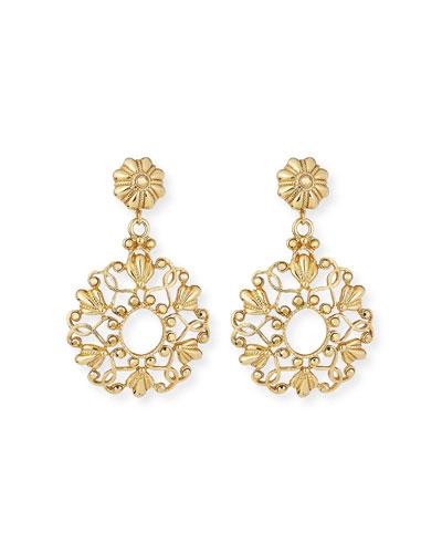 Scroll & Crystal Clip-On Earrings