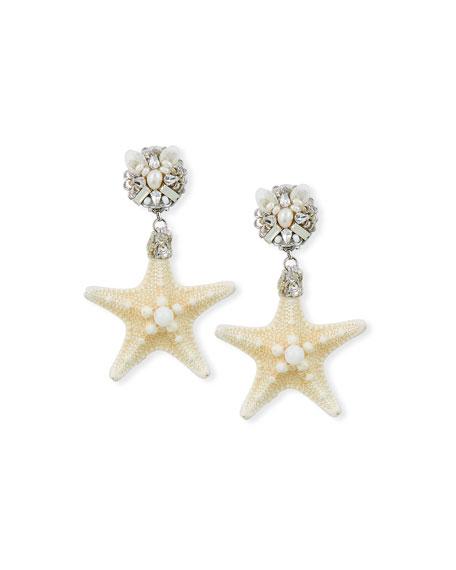 Ranjana Khan Starfish Clip-On Drop Earrings