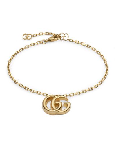 18k Yellow Gold Running G Bracelet