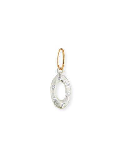 Old Money Oval Single Earring with Stones