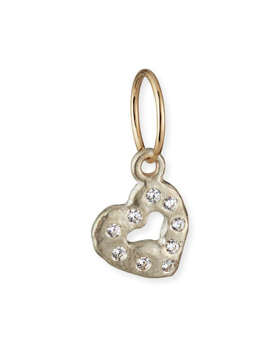 Old Money Apollo Heart Earring w/ Cubic Zirconia, Single