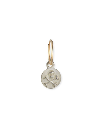 Tiny Pirate Coin Earring, Single