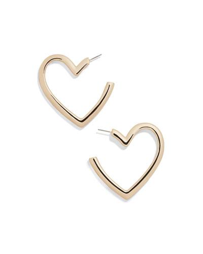 Brianna Heart Hoop Earrings