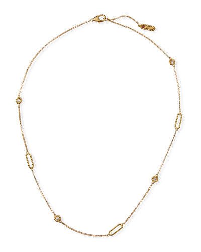 Barocco Braid 18k Diamond Necklace
