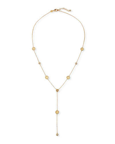 Barocco Braid 18k Diamond Y-Drop Necklace