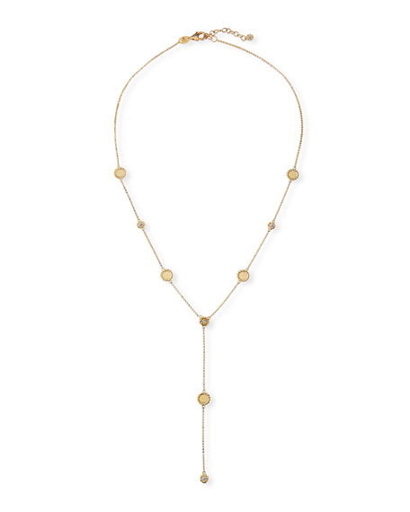Roberto Coin Barocco Braid 18k Diamond Y-Drop Necklace