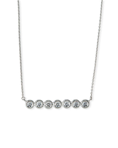 bf44cf1d63a01c Quick Look. Roberto Coin · 18k White Gold Diamond-Bezel Bar Necklace