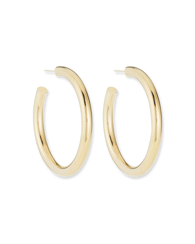 Lou Medium Thick Hoop Earrings