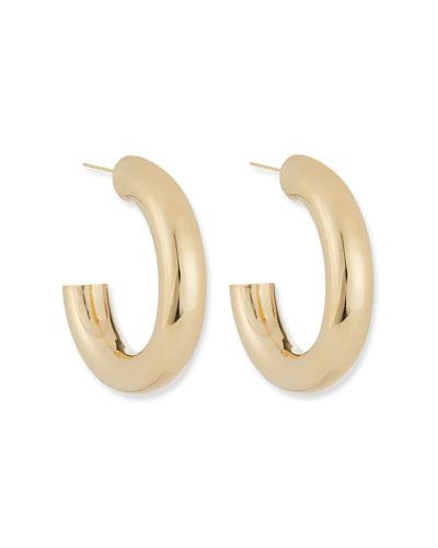 Lou Thick Hoop Earrings, 1