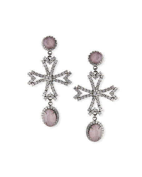 Elizabeth Cole Cynthia Cross-Drop Earrings