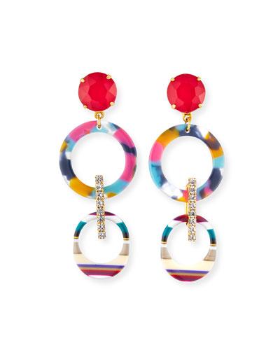 Salvia Hoop-Drop Earrings