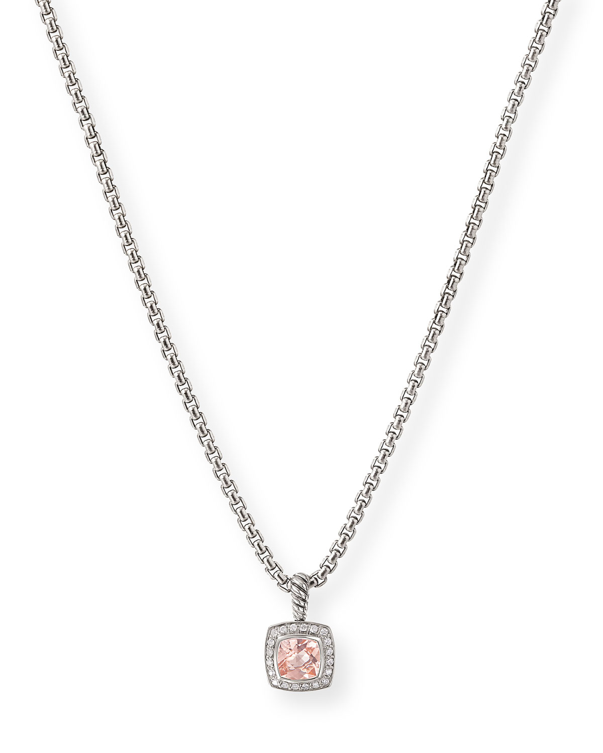 Petite Albion Necklace with Morganite