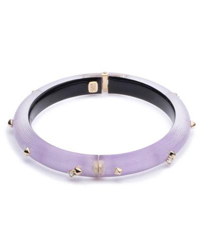 Studded Hinge Bracelet, Purple