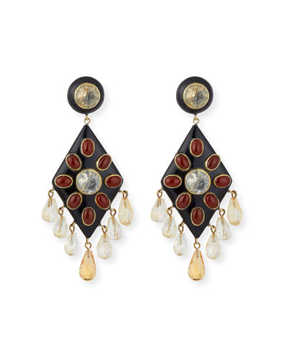 Ibada Carnelian & Citrine Drop Earrings
