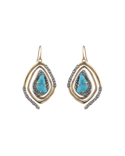 Spiral Drop Earrings, Turquoise