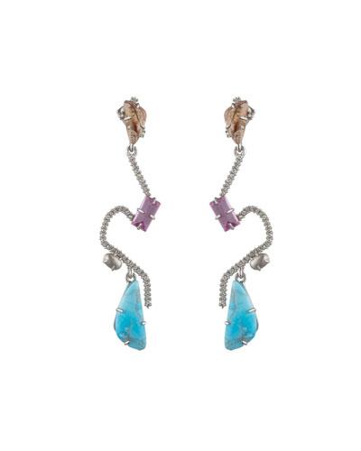 Crystal Maze Fancy Stone Earrings